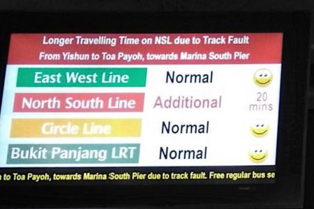 North-South Line slowdown due to melted rubber on tracks