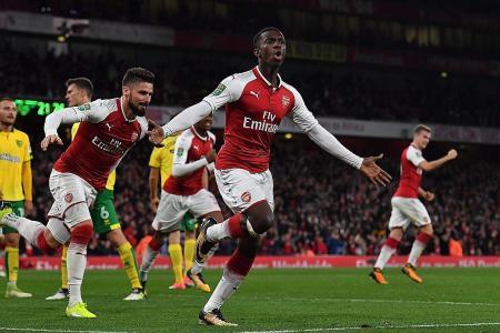 Wenger hails rising starlet Nketiah