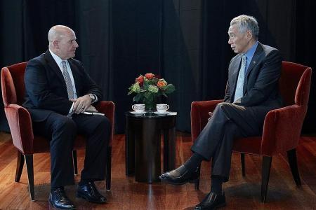 PM Lee talks terror, North Korea in meetings in US