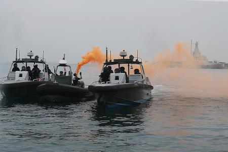 'Terrorists' in S'pore waters arrested