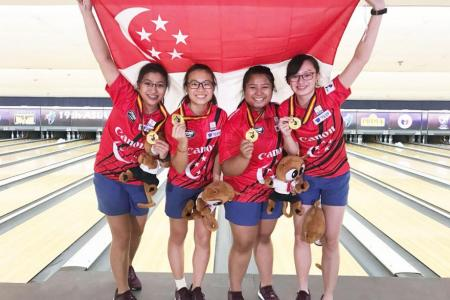 Girls win team gold at Asian Youth Tenpin Bowling Championships