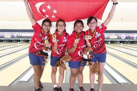 Girls win team gold at Asian Youth Tenpin Bowling Championships