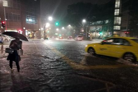 Flash floods in parts of Singapore