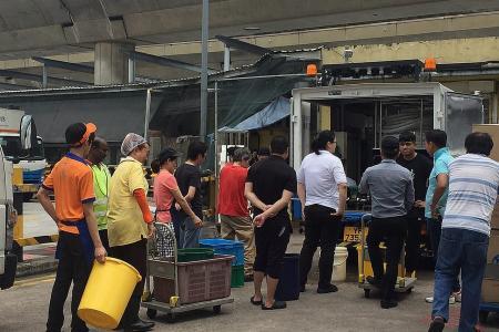 Tampines food sellers hit by burst pipe