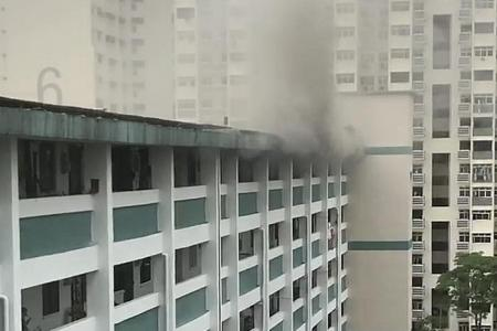 Fire breaks out at Holland Close unit