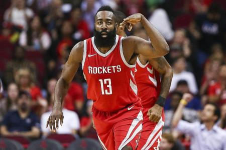 Harden scores 56 as Rockets shoot down Jazz
