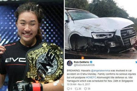 MMA star Lee cancels title fight after car accident