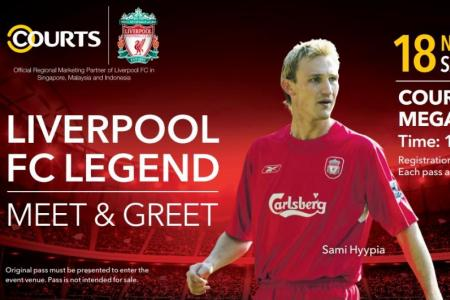 Win passes to meet Liverpool legend Sami Hyypia