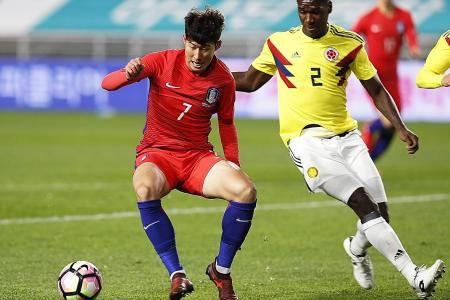 Son on the double as South Korea edge out Colombia