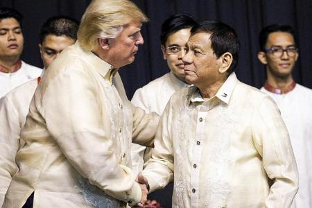 Trump gets warm reception from Duterte