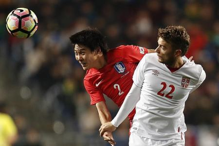 All square between South Korea and Serbia