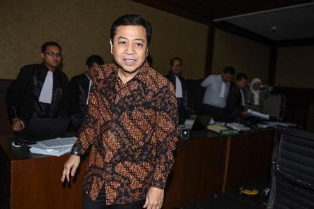 Indonesia's Speaker winds up in hospital, ending manhunt