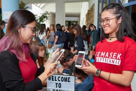 Temasek Poly goes cashless for a good cause