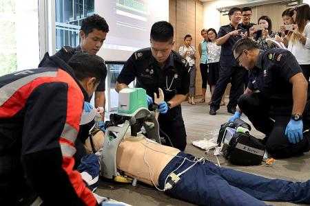 Fire fighters roped in to help victims of cardiac arrest