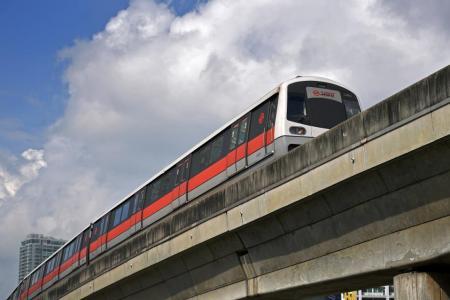 MRT driver taken to hospital after lightning strikes train