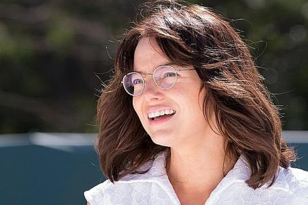 Unsporty Emma Stone honed dance skills to to play tennis legend
