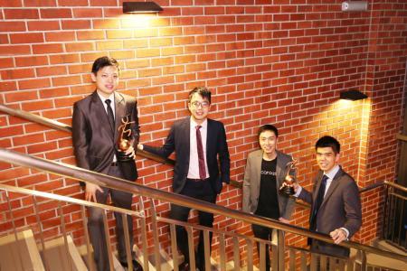 Carousell founders honoured by NUS