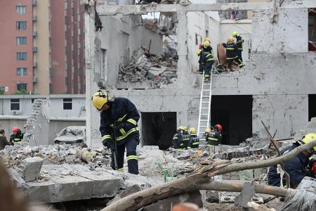 Powerful blast hits port city