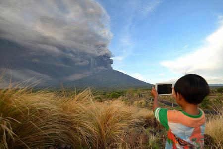 Mount Agung erupts, flights banned over the area
