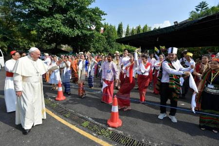 Pope Francis visits Myanmar with the R-word looming