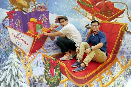 Be creative with optical illusion walls while shopping at FairPrice