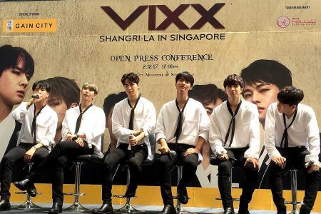 Fans go gaga over K-pop boy band VIXX at Gain City Megastore