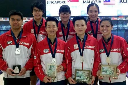 Singapore's women bowlers win silver at world meet