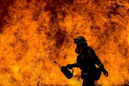 Winds set to pick up again as California battles raging wildfires