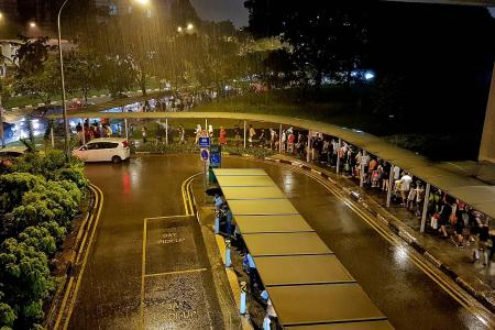 Long queues for buses at Jurong East