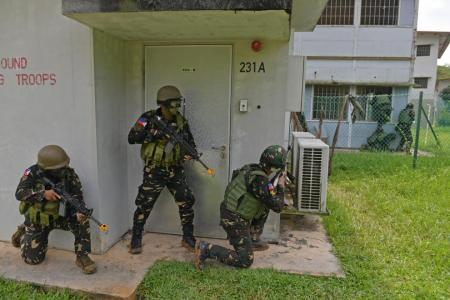 Elite Philippine army 'captures' buildings in exercise with SAF