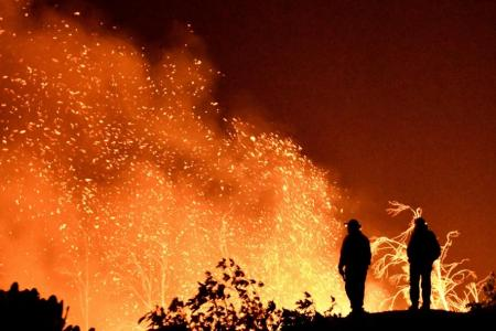 California winds fuel state's third-largest wildfire, may get worse