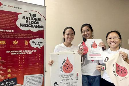 CHIJ students organises blood donation drive