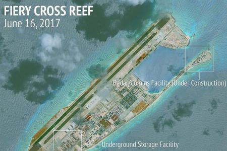 China island expansion moves ahead in South China Sea