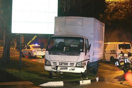Teen arrested after driving lorry into gas utility box