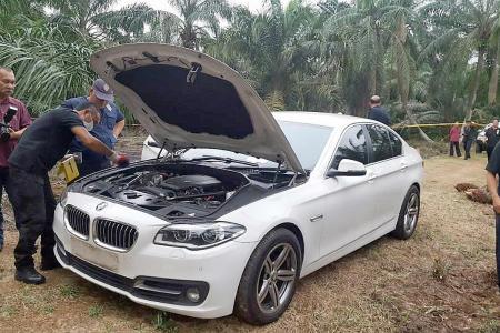 White BMW used in JB petrol station murder found
