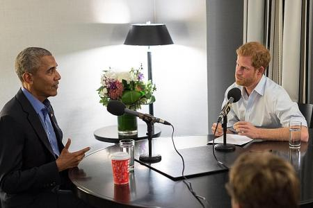 Obama warns of social media dangers  in interview with Prince Harry