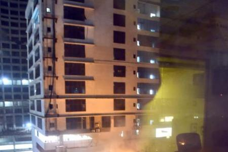 Fire razes Mumbai rooftop