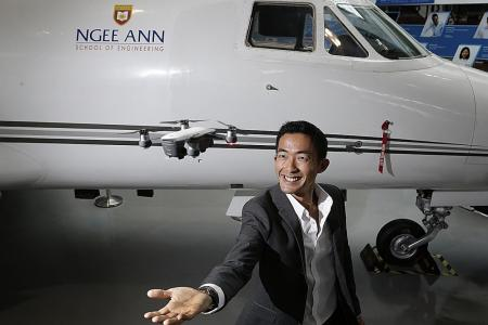 Engineering diploma helps his dream take off