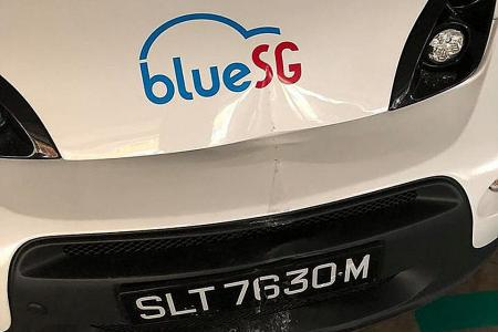 BlueSG cars damaged weeks after launch