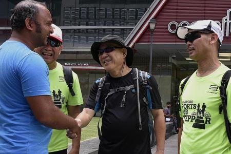 Three friends walk 100km around Singapore in 24 hours