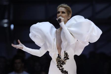Celine Dion shows fantastic grace as fan humps her leg