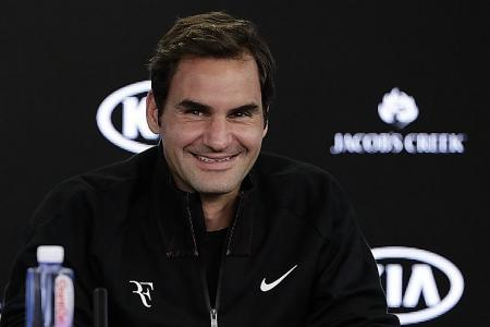 Federer having 'fun' as rivals struggle in lead-up to Australian Open