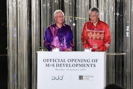PM Lee, Najib officially open Marina One development