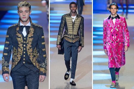 D&G's royal flush wows Milan Fashion Week