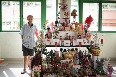 Yishun artist creates latest toy tower with authorities' blessings