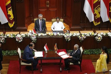 S'pore, Sri Lanka sign free trade pact