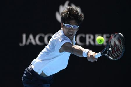 South Korea's Chung charges into Australian Open semis