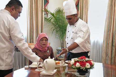 Cook's wish to prepare lunch for President Halimah comes true