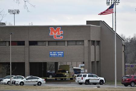 Boy, 15, opens fire with handgun in US school, kills 2