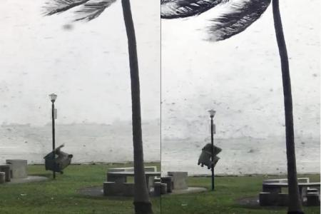 Strong winds, waterspout send boats flying in East Coast Park